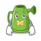Silent watering can character cartoon Stock Images