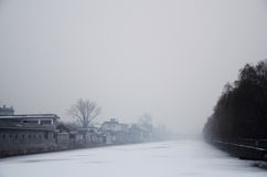 Silent winter. A silent snowy day in Beijing Royalty Free Stock Images
