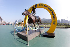 Silent Witness bronze. Is a attraction in Sha Tin racecourse. The bronze is displayed on the public forecourt of Sha Tin Racecourse Stock Photos
