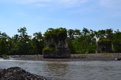 A silent witness of one of the Tempeh bridges, Lumajang, East Java royalty free stock photos