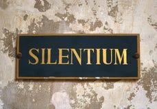 silentium Fotografia Stock