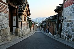 Silently Village , Hanok Village in Korea Stock Image