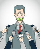 Silenzio royalty illustrazione gratis