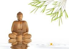 Silenzio del Buddha di zen Fotografie Stock Libere da Diritti