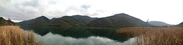 silenzio del lago Fotografia Stock