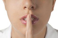 Silenzio - infermiera Fotografie Stock Libere da Diritti