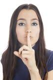 Silenzio per favore Fotografia Stock Libera da Diritti