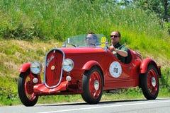 Siler flagga 2012 - Fiat Balilla Coppa d'Oro 1933 Royaltyfri Bild