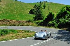 Siler flagga 2012 - Porsche 550 RS 1955 Arkivbilder