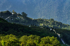 Silerygaon valley, Sikkim. Silerygaon valley in the morning, Sikkim Royalty Free Stock Images