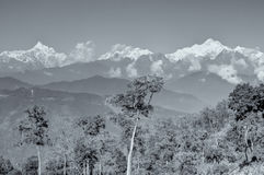 Silerygaon Village, with Himalayan mountain in backdrop, Sikkim Royalty Free Stock Image