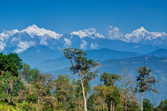 Silerygaon Village, with Himalayan mountain in backdrop, Sikkim Royalty Free Stock Photography