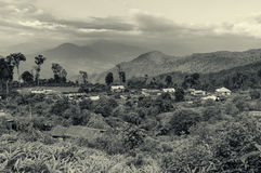 Silerygaon Village, with Himalayan mountain in backdrop, Sikkim Stock Images