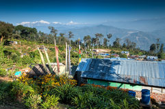 Silerygaon Village, Kanchejuga backdrop, Sikkim Stock Image