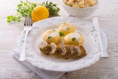 Silesian dumplings Royalty Free Stock Images
