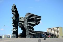 Silesian Insurgents Monument in Katowice Stock Images