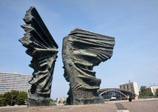 Silesian Insurgents Monument is located in the center Katowice ( Royalty Free Stock Photo
