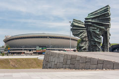 Silesian Insurgents Monument and Spodek - sports and entertainment hall. Royalty Free Stock Photography