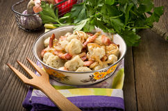 Silesian potato dumplings Royalty Free Stock Photos