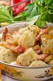Silesian potato dumplings Stock Photos