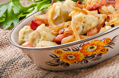 Silesian potato dumplings Stock Photos