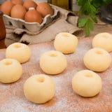 Silesian potato dumplings Royalty Free Stock Photo