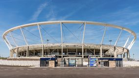 Silesian Stadium. With a capacity of 55211 re-opened in October 2017 after 8 years of renovations. Delays were caused by flaws discovered while mounting up the Stock Image