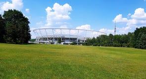 Chorzow - silesian stadium captured from the park. Poland royalty free stock image