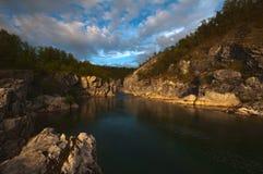 Silfar峡谷 库存照片
