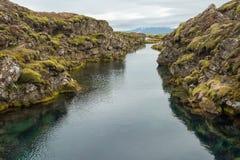 Silfra Fissure In Thingvellir National Park, Iceland Stock Photo