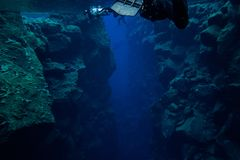 Silfra Iceland. Snorkeling the continental divide in Iceland Stock Photography