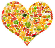 Silhoette由多种果子做 免版税库存照片