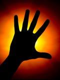 Silhoette de paume Image libre de droits