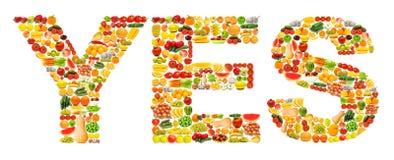 Silhoette die van diverse vruchten wordt gemaakt Royalty-vrije Stock Foto