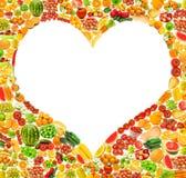 Silhoette fêz das várias frutas Fotografia de Stock Royalty Free