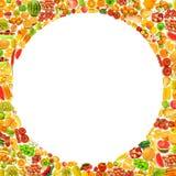 Silhoette fez dos vários frutos ilustração stock