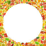 Silhoette made from various fruits Royalty Free Stock Photos