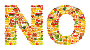 Silhoette made from various fruits Royalty Free Stock Image