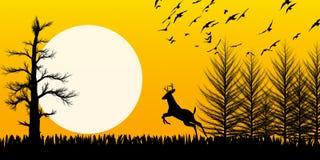 Silhouet Royalty-vrije Stock Afbeeldingen
