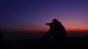 Silhouet Royalty-vrije Stock Afbeelding