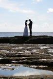Silhouet Royalty-vrije Stock Foto's