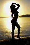Silhouet Stock Foto's