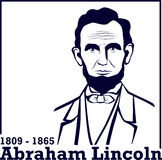 Silhouet Abraham Lincoln Stock Foto