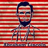 Silhouet Abraham Lincoln Royalty-vrije Stock Fotografie