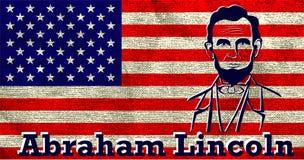 Silhouet Abraham Lincoln Royalty-vrije Stock Afbeeldingen