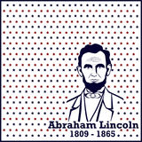 Silhouet Abraham Lincoln Stock Afbeelding