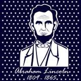 Silhouet Abraham Lincoln Stock Afbeeldingen