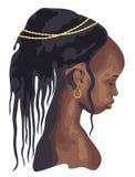 Silhouet Afrikaanse vrouw Royalty-vrije Stock Foto's