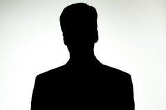 Silhouet Bedrijfsmens Stock Foto