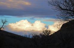 Silhouet in de Canion stock afbeelding